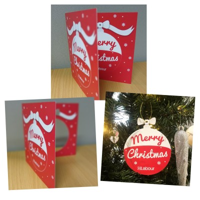Image of Christmas Card open