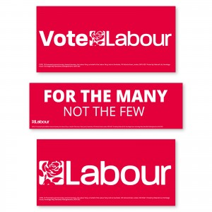 Labour Window Stickers