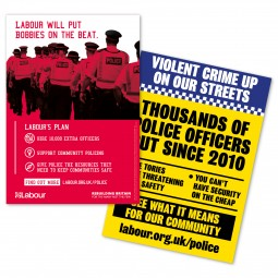 Image of labour's police cuts leaflet