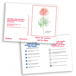 Image of Labour's leaflet for Mother's Day 2019