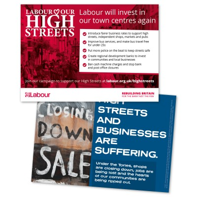 image of labour high streets leaflet
