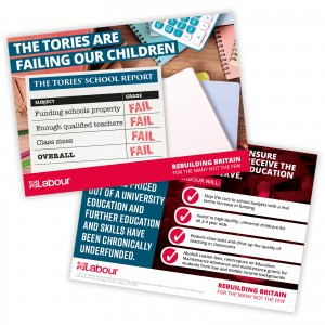 Tory school report leaflet
