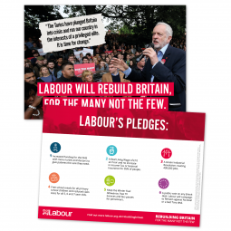 Image of England pledge card leaflet