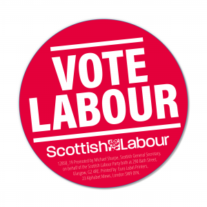 Scottish Vote Labour Stickers
