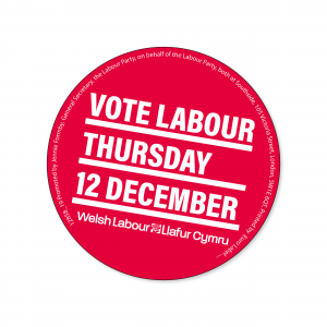 Vote Welsh Labour 12 December stickers
