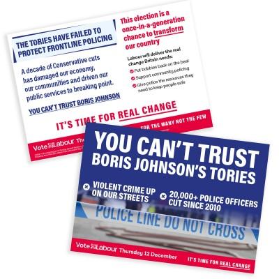 Image of labour safer communities leaflet
