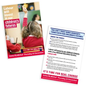 Labour will invest in our children's futures leaflet