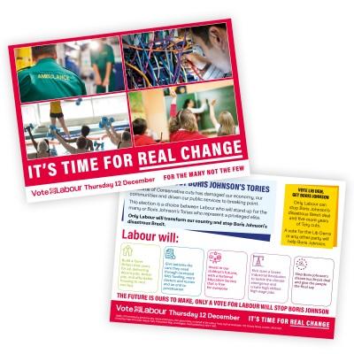 Image of labour real change leaflet