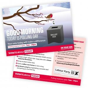 GE2019 Polling Day: Good Morning (festive robin)