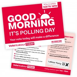 image of labour polling day leaflet