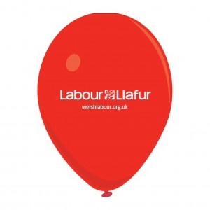 Welsh Labour Balloons