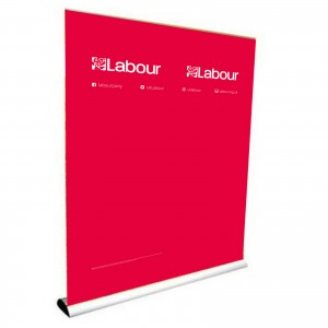 Labour banner stand (double)