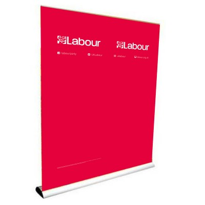 Labour/For the many, not the few banner stand (double)
