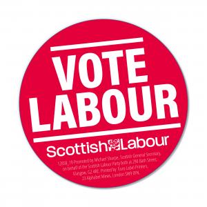 Scottish Vote Labour Stickers