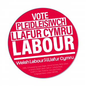 Welsh Vote Labour stickers