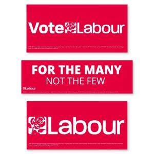 Labour Window Stickers