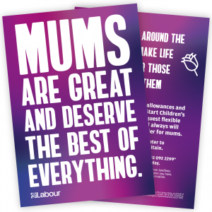 Mums are great and deserve the best of everything leaflet