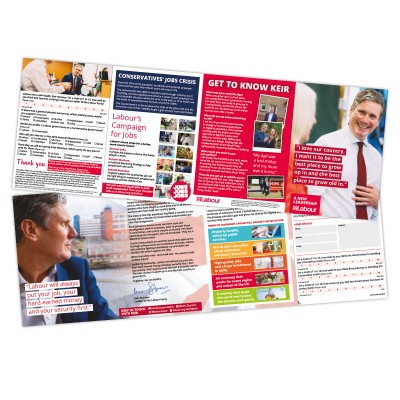 Labour Will Deliver a better future leaflet with 'Tell Keir' survey