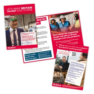 Labour's new deal for working people leaflet