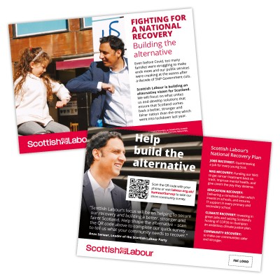 Fighting for a national recovery in Scotland Leaflet