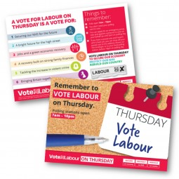 Option 1 for Single Candidates. Remember to Vote Labour on Thursday