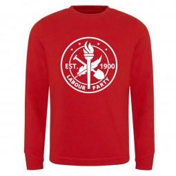 Large heritage logo red sweatshirt