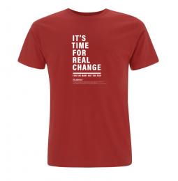 Image of real change t-shirt