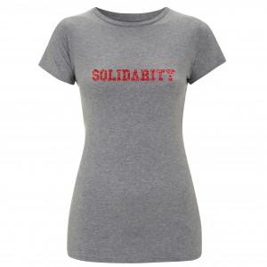 Women's Solidarity T-shirt (glitter design)