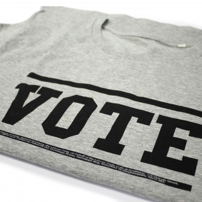 Image of folded women's vote t-shirt