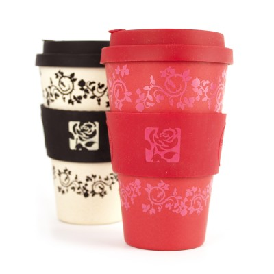 Second image of red rose eco cup