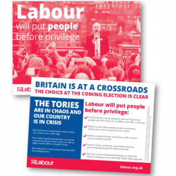 Image of the Labour will put people before privilege leaflet (England version)