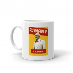 Picture of white mug with Jeremy Corbyn design on