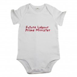 Image of babygrow with future prime minister slogan