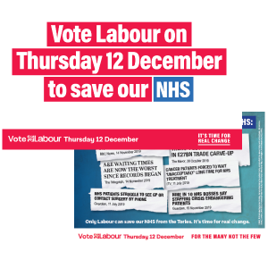 Vote Labour to save our NHS leaflet