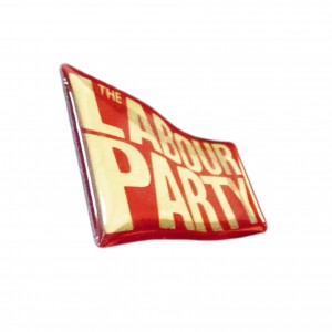 Labour Flag Pin Badge