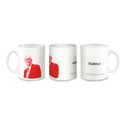 3 images of a Jeremy Corbyn mug