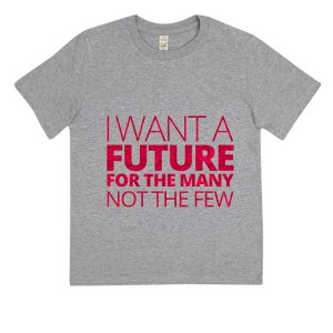 Children's I want a future for the many not the few Glitter T-Shirt