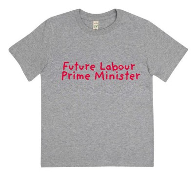 Image of childs future labour prime minister t-shirt