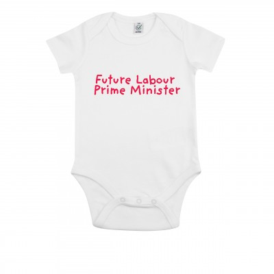 White baby grow with logo