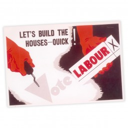 Image of labour vintage housing poster