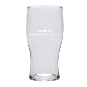 Jeremy Corbyn For the Many not the Few Pint Glass