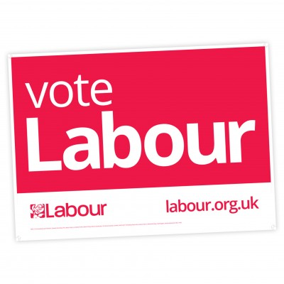 Vote Labour 6x4foot Correx Board