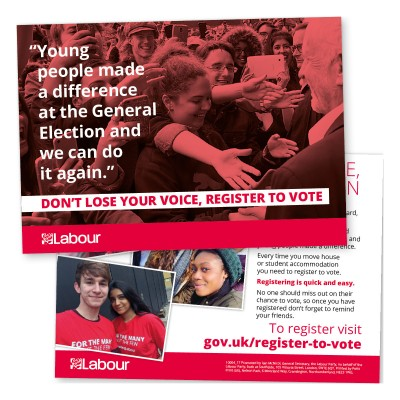 Voter Registration Leaflet - Students and Young