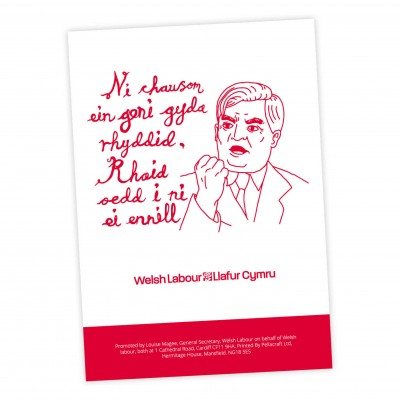 Image of Nye Bevan poster with welsh slogan