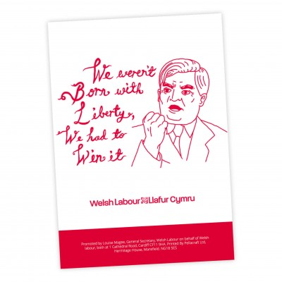 Image of Nye Bevan poster with english slogan