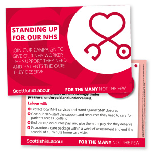 Scottish Labour - Caring for our NHS Leaflet