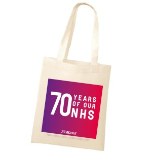NHS at 70 tote bag