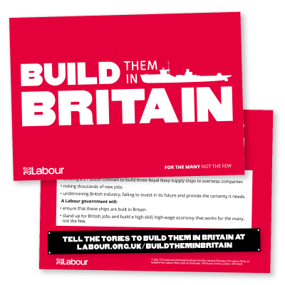 Build them in Britain Leaflet