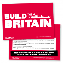 Build them in Britain Leaflet