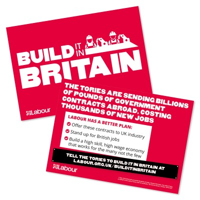 Build it in Britain leaflet